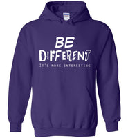 Graphics Inspire - BE DIFFERENT It's More Interesting so Be Yourself Fun Purple Hoodie