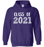 Graphics Inspire - Class of 2021 Graduation Hand Sketched Purple Hoodie