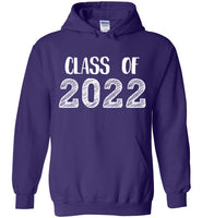Graphics Inspire - Class of 2022 Graduation Hand Sketched Purple Hoodie