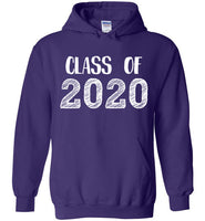 Graphics Inspire - Class of 2020 Graduation Hand Sketched Purple Hoodie