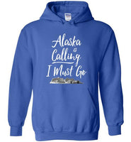 Graphics Inspire - Alaska is Calling & I Must Go Alaska Mountain Range Hoodie