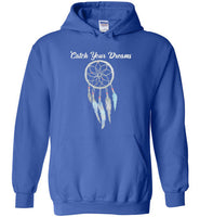 Graphics Inspire - Dream Big Catch Your Dreams Lovely Dream Catcher Royal Blue Hoodie