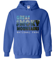 Graphics Inspire - Great Smoky Mountains National Park in Mountain Landscape Royal Blue Hoodie