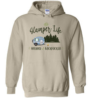 Graphics Inspire - Glamper Life Fun RV Camper Retired Backpacker Camping Hoodie
