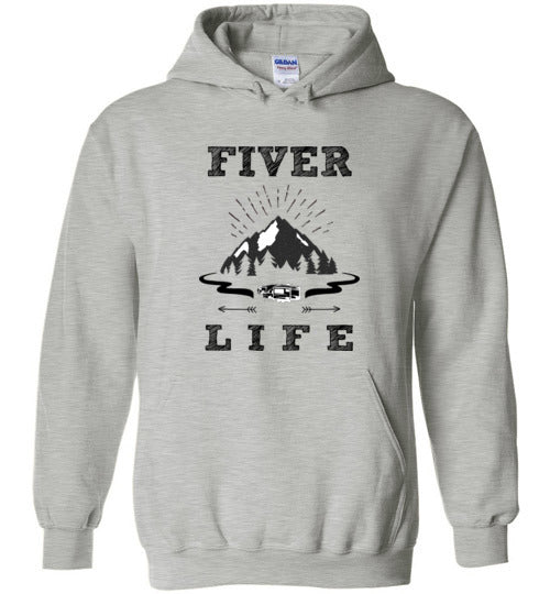 Graphics Inspire Hoodie - Fiver Life Fifth Wheel RV Camping Hoodie