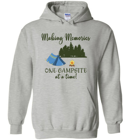 Graphics Inspire Hoodie - Making Memories One Campsite At A Time Tent Camping Hoodie