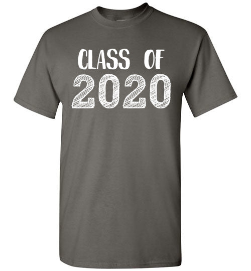 Graphics Inspire - Class of 2020 Graduation Hand Sketched Charcoal T-Shirt