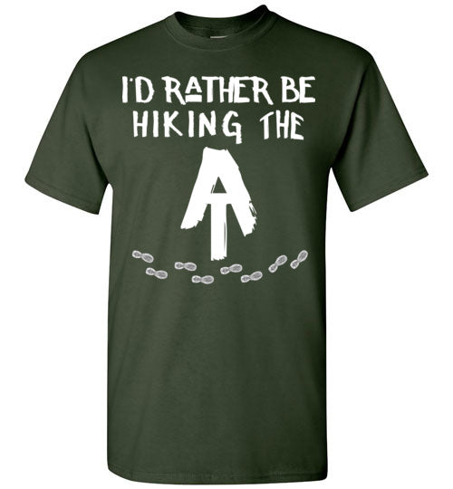 Graphics Inspire T-Shirt - I'd Rather Be Hiking The AT Appalachian Trail Hiker T-Shirt