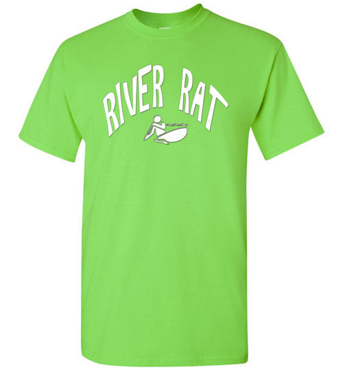 Graphics Inspire - River Rat Kayaking Whitewater Fun Kayaking Lime T-Shirt