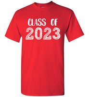 Graphics Inspire - Class of 2023 Graduation Hand Sketched Red T-Shirt