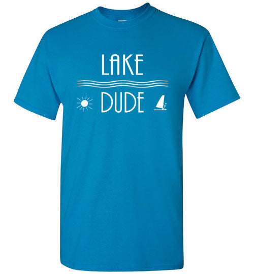 Graphics Inspire - LAKE DUDE Love the Lake Sun and Sail Fun Sapphire T-Shirt