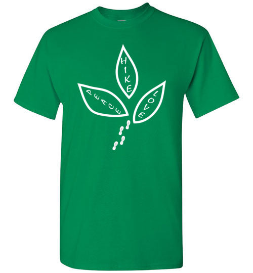 Graphics Inspire - Peace Love Hike Cute Hiker's Turf Green T-Shirt
