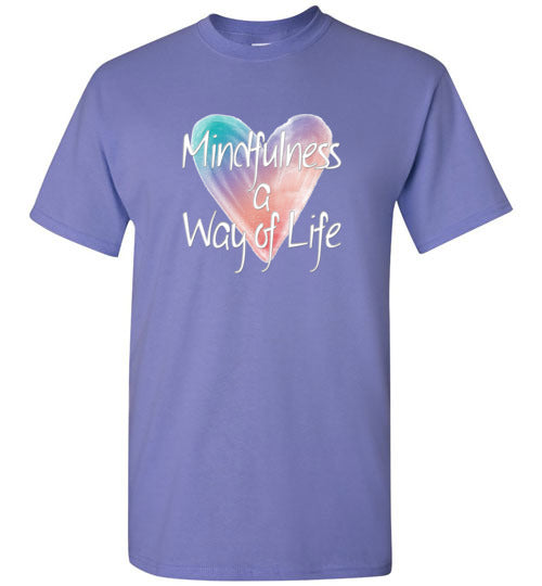 Graphics Inspire - Mindfulness is A Way of Life Inspirational Violet T-Shirt