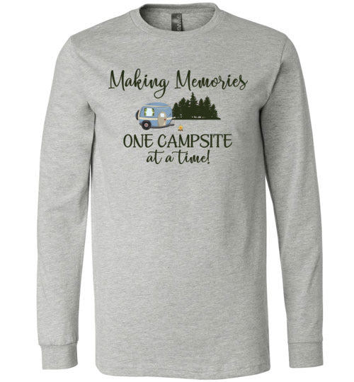 Graphics Inspire T-Shirt - Making Memories One Campsite At A Time RV Camping Premium Long Sleeve T-Shirt