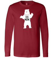 THIS MOM is a Mama Bear Funny Premium Long Sleeve Cardinal Red T-Shirt