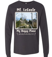 Graphics Inspire T-Shirt - Mt. LeConte My Happy Place Great Smoky Mountains National Park Premium Long Sleeve T-Shirt
