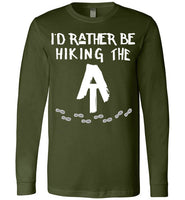 Graphics Inspire T-Shirt - I'd Rather Be Hiking The AT Appalachian Trail Hiker Premium Long Sleeve T-Shirt