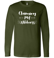 Graphics Inspire - Claiming My Wildness for Women Living Their Authentic Life Premium Long Sleeve T-Shirt