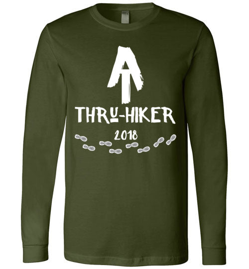 Graphics Inspire - AT Thru-Hiker 2018 Appalachian Trail Rustic Thru Hiker Premium Long Sleeve T-Shirt