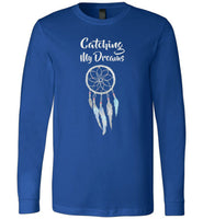 Graphics Inspire - Catching My Dreams with Lovely Dream Catcher Premium Long Sleeve T-Shirt