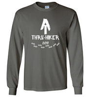Graphics Inspire - AT Thru-Hiker Completed Appalachian Trail in 2017 Rustic Thru-Hiker Long Sleeve Charcoal T-Shirt