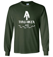 Graphics Inspire - AT Thru-Hiker Completed Appalachian Trail in 2017 Rustic Thru-Hiker Long Sleeve Forest Green T-Shirt