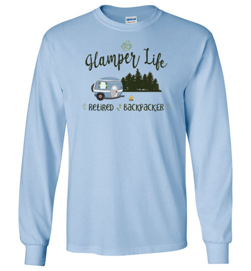 Graphics Inspire - Glamper Life Fun RV Camper Retired Backpacker Camping Long Sleeve T-Shirt