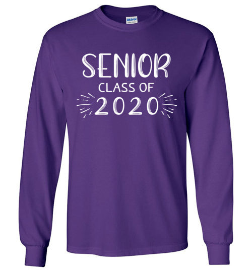 Graphics Inspire T-Shirt -SENIOR Class Of 2020 Trendy Long Sleeve T-Shirt