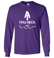 Graphics Inspire - AT Thru-Hiker Completed Appalachian Trail in 2017 Rustic Thru-Hiker Long Sleeve Purple T-Shirt