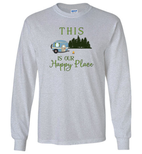 Graphics Inspire -This Is Our Happy Place RV Camping Long Sleeve T-Shirt