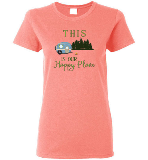 Graphics Inspire - This Is Our Happy Place RV Camping Ladies Tee