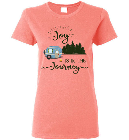 Graphics Inspire T-Shirt - Joy Is In The Journey RV Camping Ladies Tee