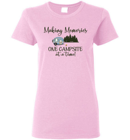 Graphics Inspire - Making Memories One Campsite At A Time Camping Ladies Tee