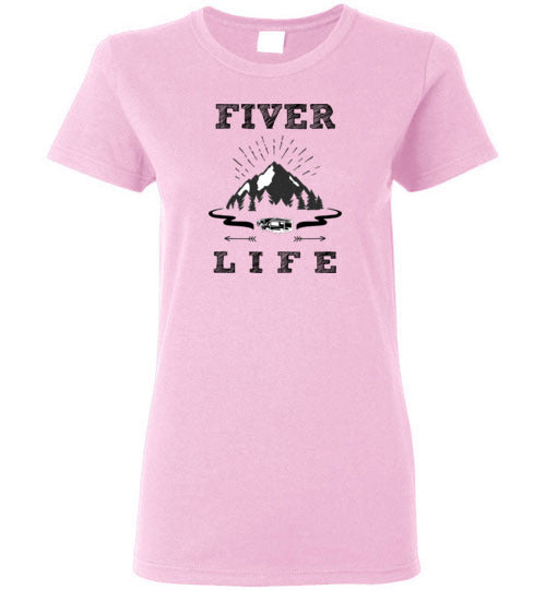 Graphics Inspire T-Shirt - Fiver Life Fifth Wheel RV Camping Ladies Tee