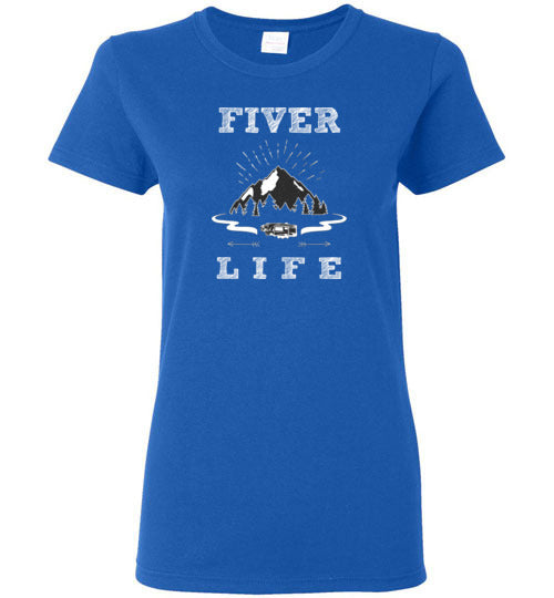 Graphics Inspire Tee - Fiver Life Fifth Wheel RV Camping Life Ladies Tee
