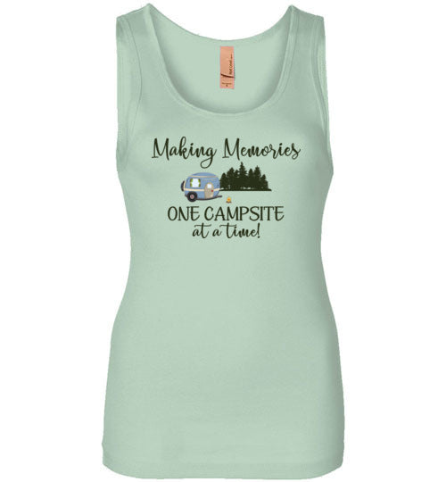 Graphics Inspire - Making Memories One Campsite At A Time Camping Womens Tank