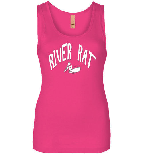 Graphics Inspire - River Rat Whitewater Kayaking Distressed Kayaker's Womens Tank