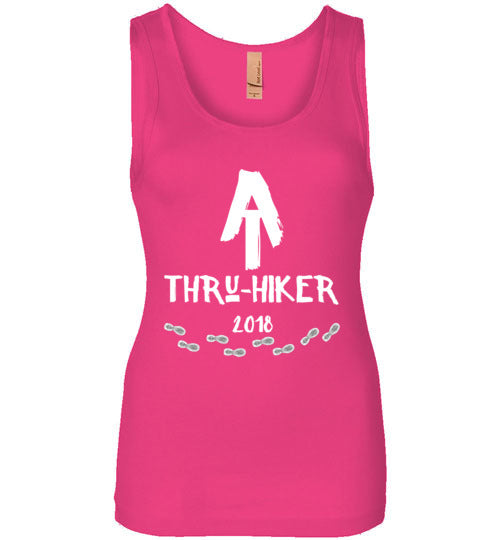 Graphics Inspire - AT Thru-Hiker 2018 Appalachian Trail Rustic Thru Hiker Womens Tank