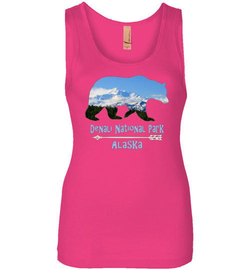 Graphics Inspire - Denali National Park Alaska in Grizzly Bear Womens Tank
