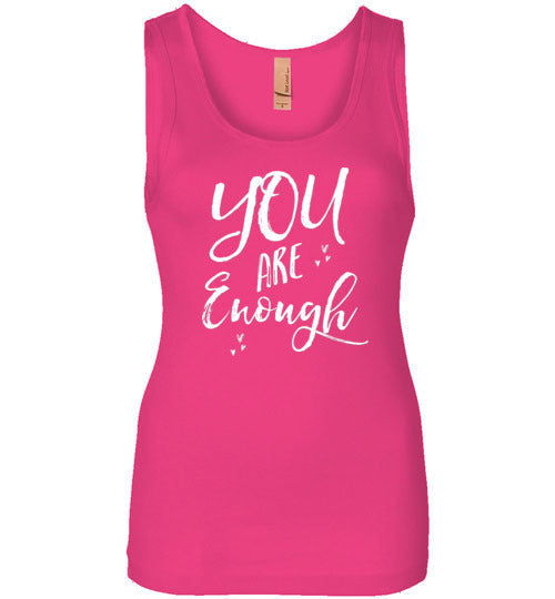 Graphics Inspire - YOU ARE Enough Be Yourself Motivational Hearts Womens Tank