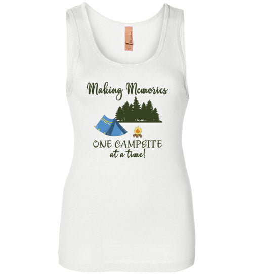 Graphics Inspire Tank - Making Memories One Campsite At A Time Tent Camping Womens Tank