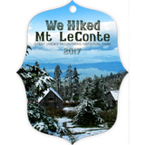 Graphics Inspire - We Hiked Mt. LeConte in Great Smoky Mountains National Park in 2017 Metal Ornament
