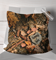 Personalize Love on the Trail When A Heart Rock Finds You Rustic Throw Pillow