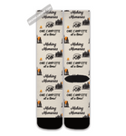 Graphics Inspire Socks - Making Memories One Campsite At A Time Tan Socks for RV Campers
