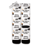 Graphics Inspire Socks - Making Memories One Campsite At A Time White Socks for RV Campers