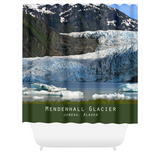 Graphics Inspire - Mendenhall Glacier in Juneau Alaska Lovely Shower Curtain