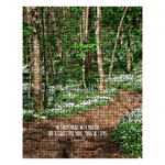 Graphics Inspire - In Every Walk with Nature  - John Muir Quote Painterly Floral Mountain Trail Rustic Puzzle in Metal Tin