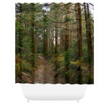 Graphics Inspire - Mt. LeConte Trail in Great Smoky Mountains Rustic Shower Curtain