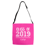 Graphics Inspire -Personalize Class of 2019 Graduation Hand Sketched Pink Shoulder Tote Bag with Name
