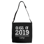 Graphics Inspire - Personalize Class of 2019 Graduation Hand Sketched Black Shoulder Tote Bag with Graduate's Name